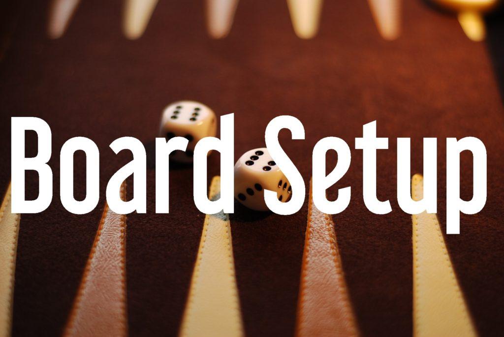 board setup button