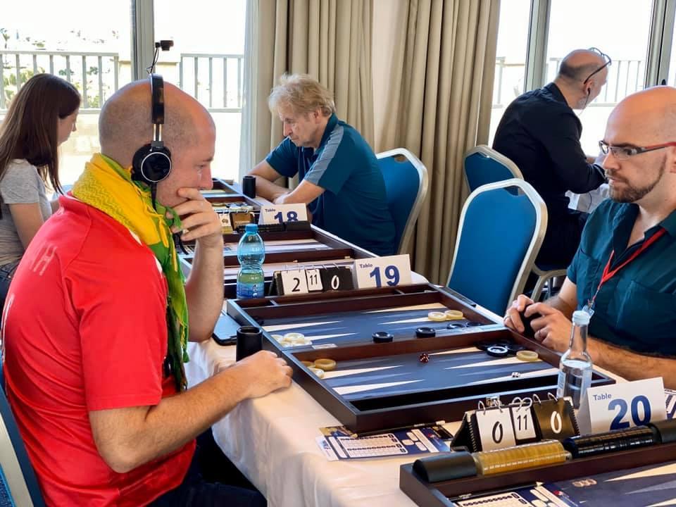 Gaz Owen vs David Ridel Backgammon Malta Open