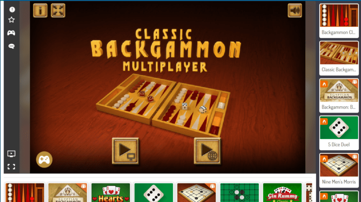 agame backgammon screenshot