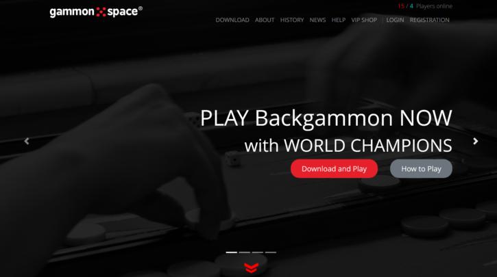 gammon space homepage sceenshot