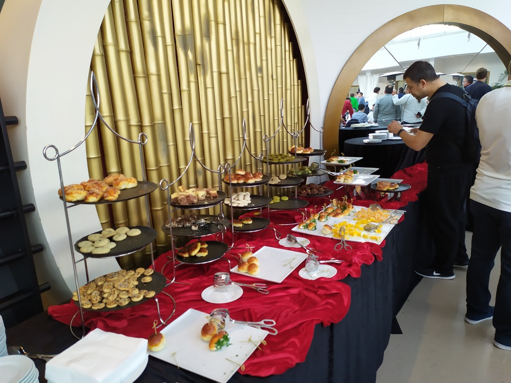 Cyprus Open Backgammon tournament buffet