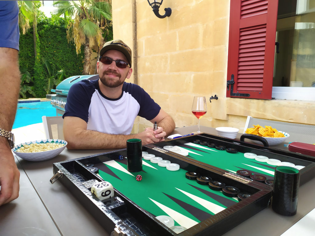 Me and my Wycliffe backgammon board