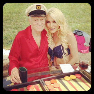 Mrs Hefner with his late wife Crystal