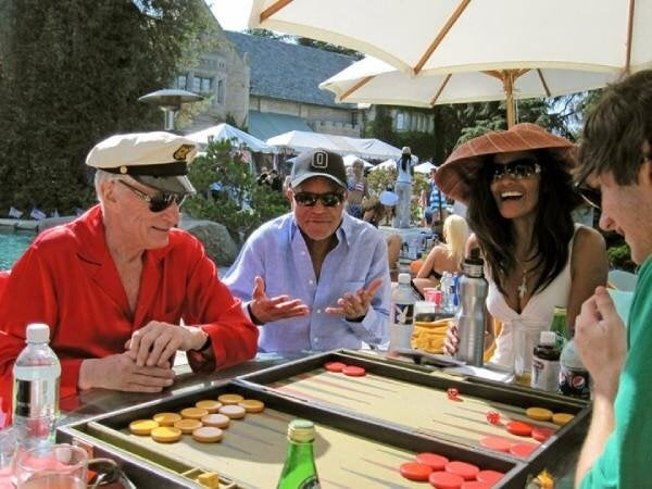 Backgammon party at the Playboy Mansion