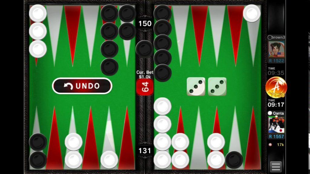 backgammon ace board