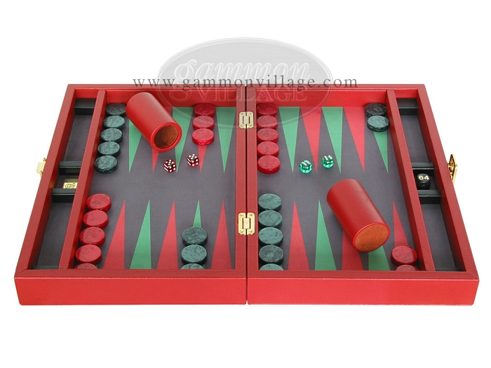 A Zaza & Sacci leather backgammon Set